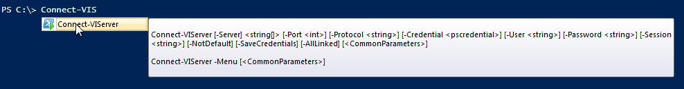 Intellisense-Connect-VIServer