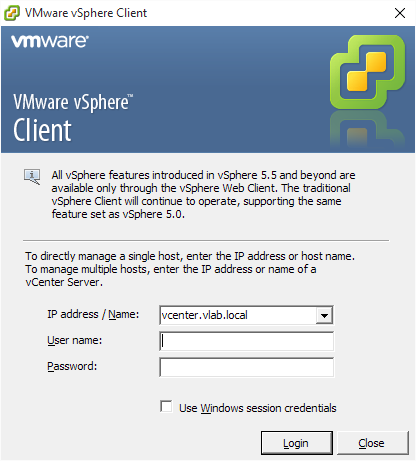 Download URLs for VMware vSphere Client