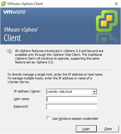 Download URLs for VMware vSphere Client