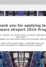 vExpert 2016 Applications are Open