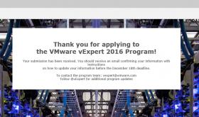 vExpert 2016 Applications are Open
